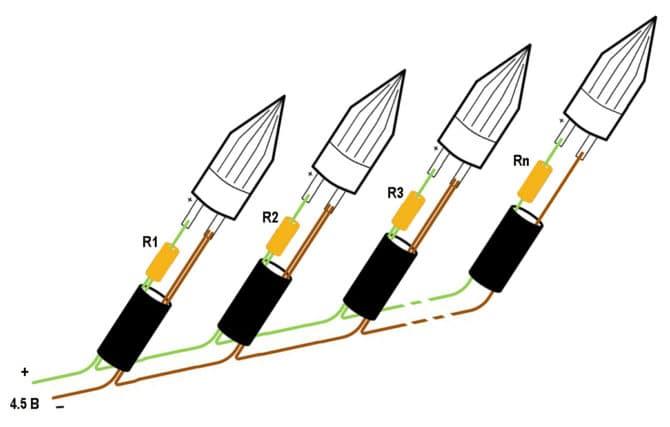 Схема гирлянды из светодиодов