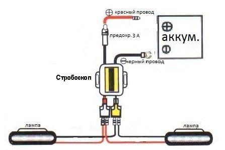 схема включения стробоскопа