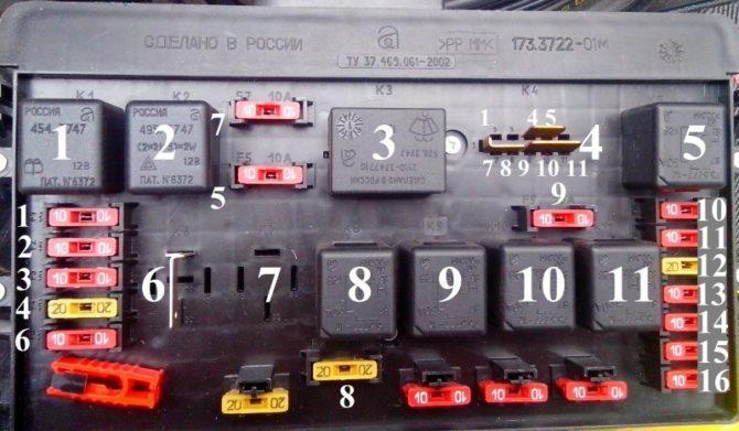 монтажный блок ВАЗ 2109