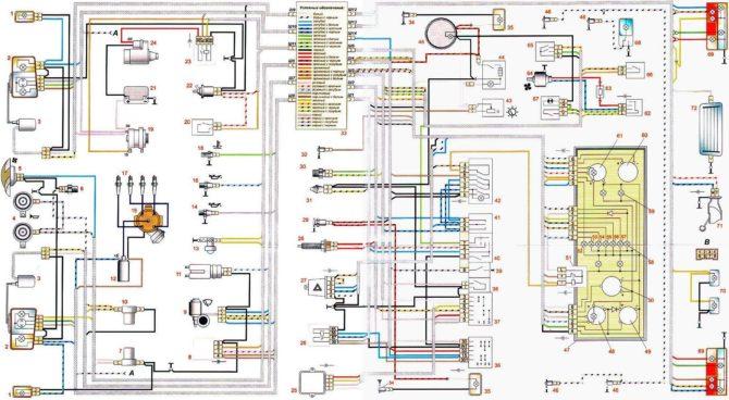 Cхема автомобиля ВАЗ 2107