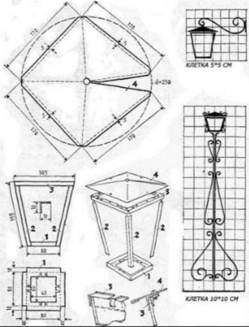Идеи для изготовления кованных фонарей из металла своими руками