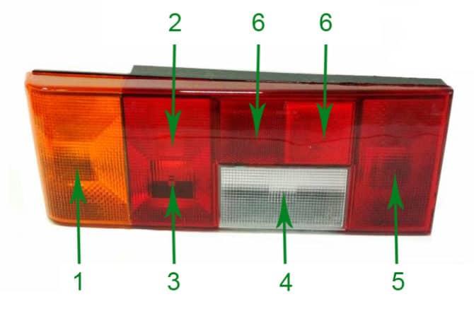 задний левый фонарь ВАЗ 2109
