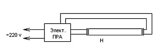 Схема светильника с ЭПРА
