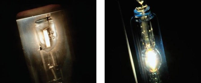 галогенная и ксеноновая лампа