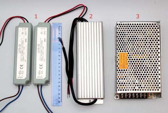 LED, блок питания