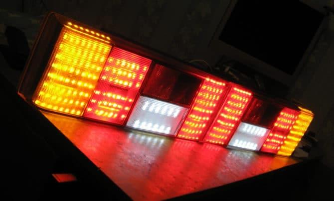 Тюнинг фонарей светодиодной лентой
