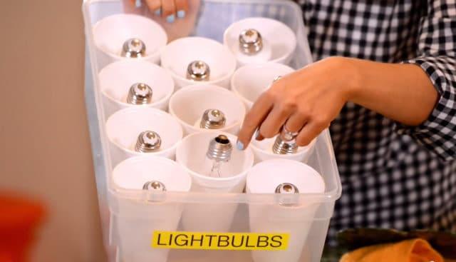 хранение ламп