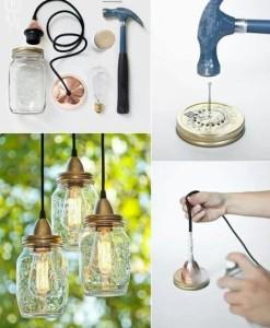светильника из бутылок