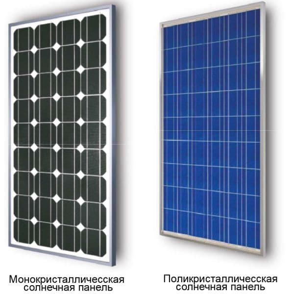 Солнечные батареи виды