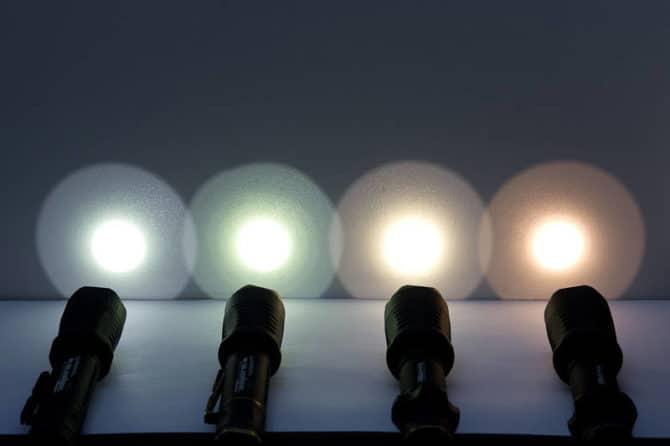 Цвет света фонариков