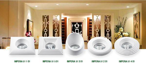 Модели гипсовых светильников