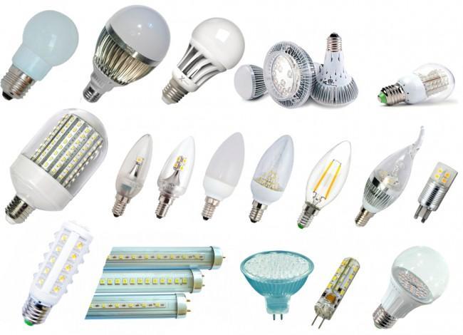 светодиодные лампы, формы