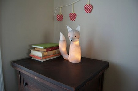 Светильник «Теплая лисичка» или мягкие игрушки