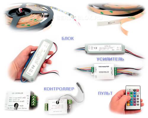 Необходимое для подключения светодиодной ленты
