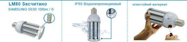 Уличные лампы Е40 со степенью защиты IP64