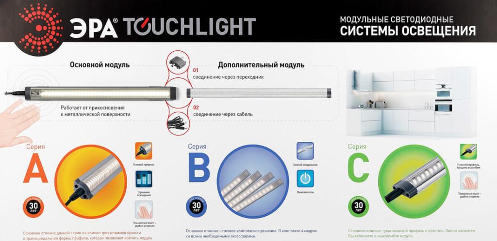 Линейные кухоные светильники Эра