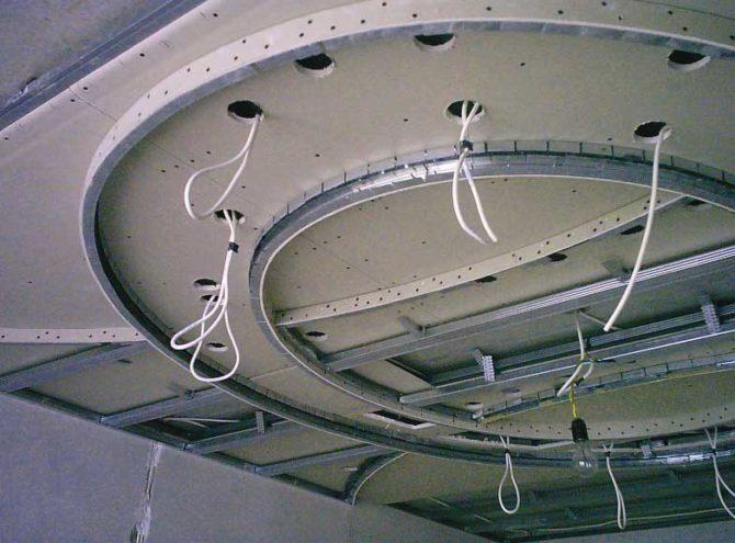 Как сделать потолок из гипсокартона с подсветкой