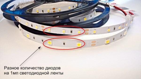 LED, количество диодов