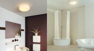 Установка люстры над ванной