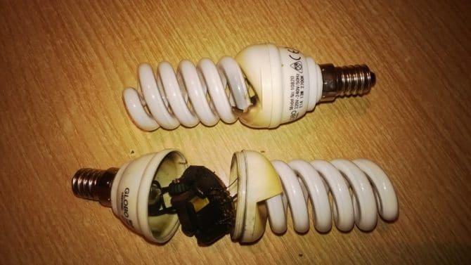 люминесцентная лампа, причины перегорания