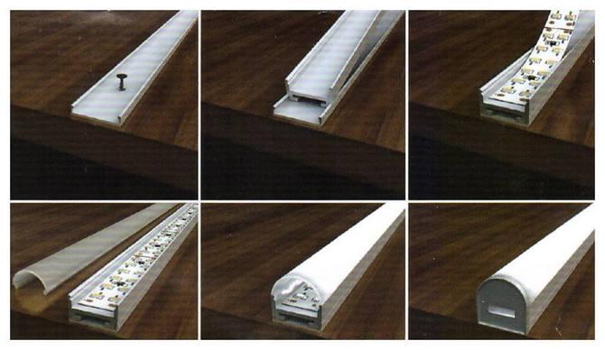 Профиль для светодиодной ленты монтаж
