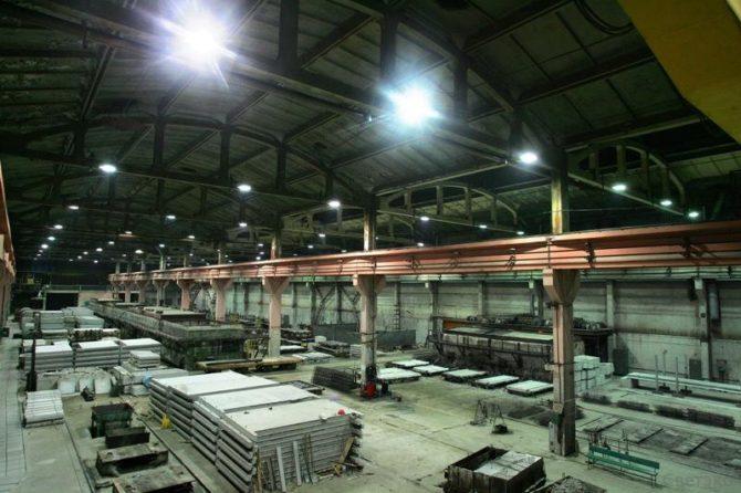 LED прожектор на заводе