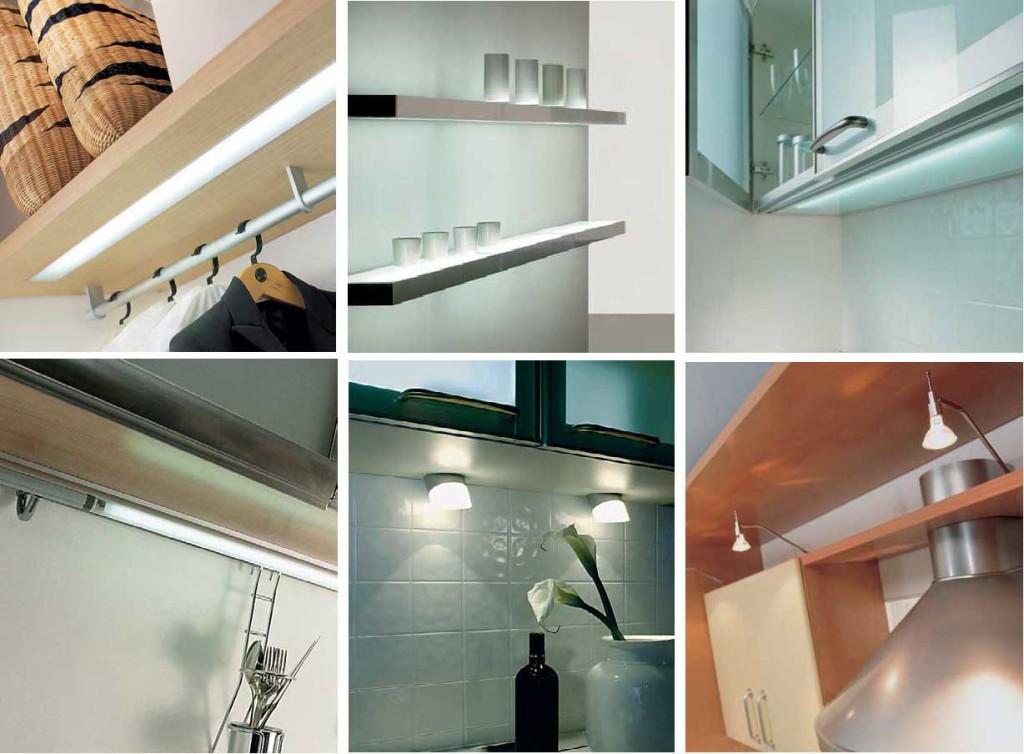 Различные виды мебельных источников света