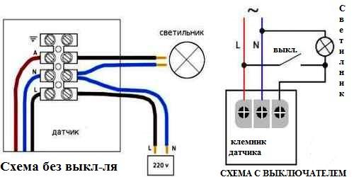 Схема подключения к электросети