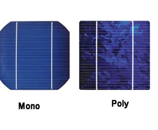 солнечные панель, моно поли