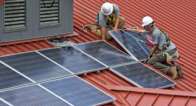 солнечная панель, установка