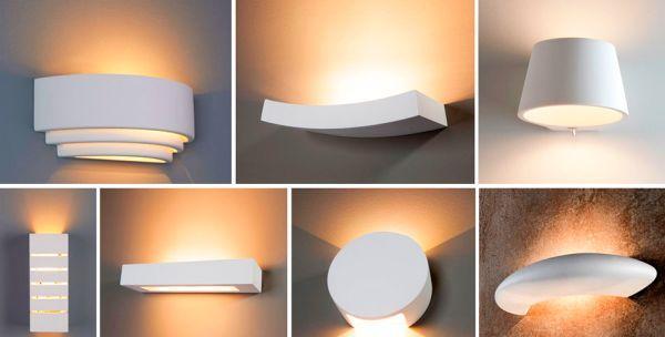 Гипсовые светильники разных форм