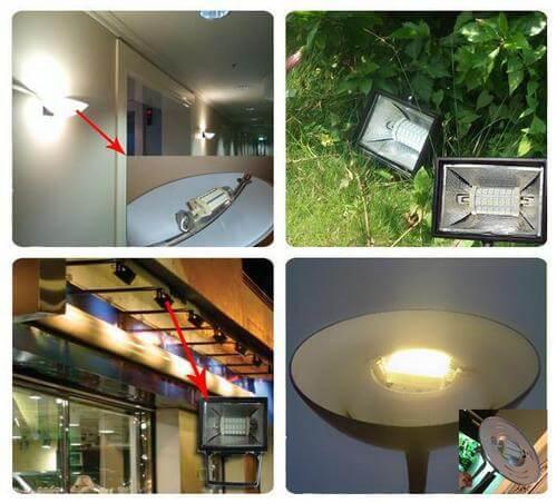 Сфера использования диодных ламп с цоколем R7s